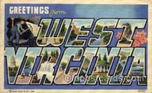 LLS001689 - West Virginia Large Letter State States Post Cards Postcards