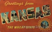LLS001690 - Kans Large Letter State States Post Cards Postcards