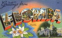 LLS001699 - Florida Large Letter State States Post Cards Postcards