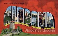 LLS001706 - Alabama Large Letter State States Post Cards Postcards