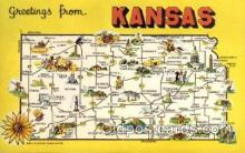 LLS001711 - Kansas Large Letter State States Post Cards Postcards