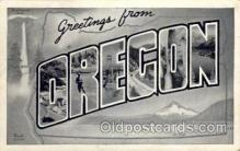LLS001712 - Oregon Large Letter State States Post Cards Postcards