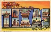 LLS001713 - Texas Large Letter State States Post Cards Postcards