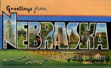 LLS001714 - Nebraska Large Letter State States Post Cards Postcards