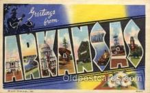 LLS001715 - Arkansas Large Letter State States Post Cards Postcards