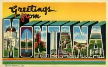 LLS001716 - Montana Large Letter State States Post Cards Postcards