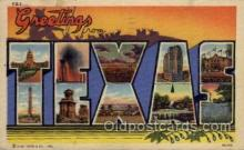 LLS001717 - Texas Large Letter State States Post Cards Postcards