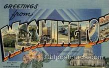 LLS001719 - Washington Large Letter State States Post Cards Postcards