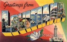 LLS001720 - Louisiana Large Letter State States Post Cards Postcards