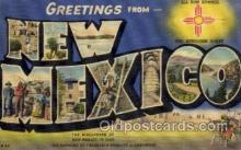 LLS001722 - New Mexico Large Letter State States Post Cards Postcards