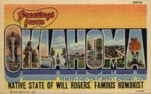 LLS001725 - Oklahoma Large Letter State States Post Cards Postcards