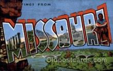 LLS001729 - Missouri Large Letter State States Post Cards Postcards