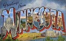 LLS001730 - Minnesota Large Letter State States Post Cards Postcards