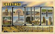 LLS001732 - Iowa Large Letter State States Post Cards Postcards