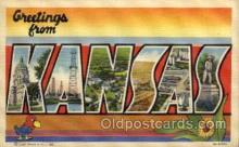 LLS001735 - Kansas Large Letter State States Post Cards Postcards