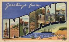 LLS001737 - Indiana Large Letter State States Post Cards Postcards