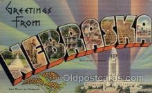 LLS001739 - Nebraska Large Letter State States Post Cards Postcards