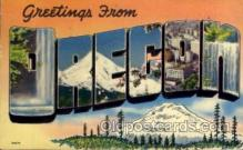 LLS001741 - Oregon Large Letter State States Post Cards Postcards