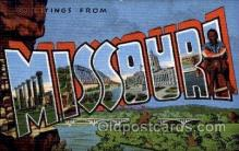 LLS001742 - Missouri Large Letter State States Post Cards Postcards