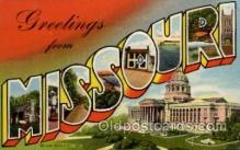 LLS001743 - Missouri Large Letter State States Post Cards Postcards