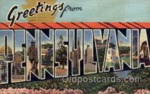 LLS001748 - Pennsylvania Large Letter State States Post Cards Postcards