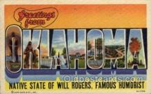 LLS001751 - Oklahoma Large Letter State States Post Cards Postcards