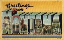 LLS001752 - Montana Large Letter State States Post Cards Postcards