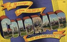 LLS001753 - Colorado Large Letter State States Post Cards Postcards
