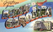 LLS001755 - North Carolina Large Letter State States Post Cards Postcards
