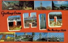 LLS001758 - Ohio Large Letter State States Post Cards Postcards