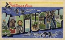 LLS001761 - Kentucky Large Letter State States Post Cards Postcards