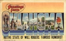 LLS001763 - Oklahoma Large Letter State States Post Cards Postcards