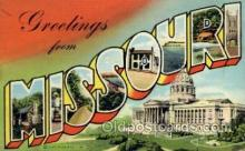 LLS001765 - Missouri Large Letter State States Post Cards Postcards