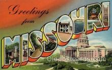 LLS001766 - Missouri Large Letter State States Post Cards Postcards