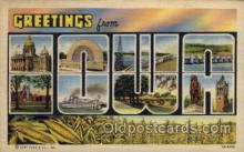 LLS001769 - Iowa Large Letter State States Post Cards Postcards
