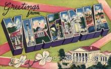 LLS001772 - Virginia Large Letter State States Post Cards Postcards
