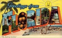LLS001774 - Florida Large Letter State States Post Cards Postcards