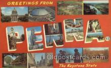 LLS001775 - Pennsylvania Large Letter State States Post Cards Postcards