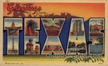 LLS001776 - Texas Large Letter State States Post Cards Postcards