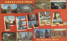 LLS001777 - Pennsylvania Large Letter State States Post Cards Postcards