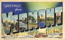 LLS001778 - Vermont Large Letter State States Post Cards Postcards