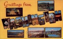 LLS001779 - Washington Large Letter State States Post Cards Postcards
