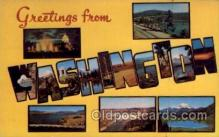LLS001782 - Washington Large Letter State States Post Cards Postcards