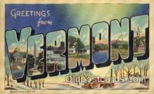 LLS001783 - Vermont Large Letter State States Post Cards Postcards