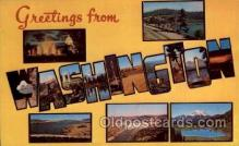 LLS001785 - Washington Large Letter State States Post Cards Postcards