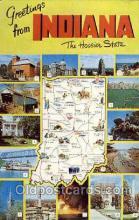 LLS001786 - Indiana, USA Large Letter States Postcard Postcards
