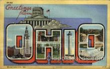 LLS001789 - Ohio, USA Large Letter States Postcard Postcards