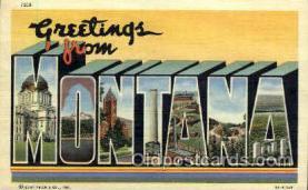 LLS001790 - Montana, USA Large Letter States Postcard Postcards
