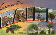 LLS001798 - Maine, USA Large Letter States Postcard Postcards