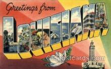 LLS001802 - Louisiana, USA Large Letter States Postcard Postcards